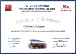 istanbul-fdi-dental-kongres-dubravka-spasojevic