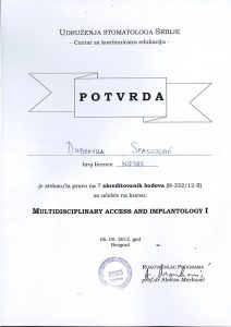 implantologija-dubravka-spasojevic-stomatolog-diploma