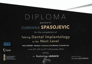 stomatologija-diplima-dubravka-spasojevic-dental-implantology