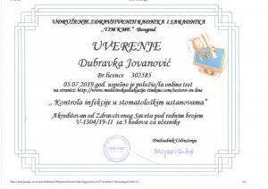 uverenje-sertifikat-dubravka-spasojevic-stomatologija