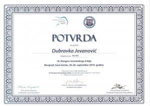 dubravka-spasojevic-sertifikat-stomatologija