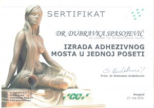 sertifikat-dubravka-spasojevic-izrada-adhezivnog-mosta